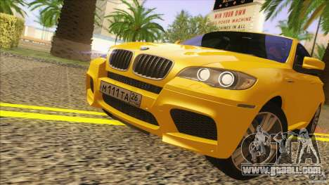 BMW X6M E71 v2 for GTA San Andreas back left view