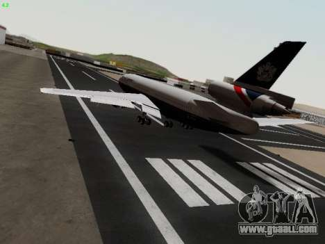 McDonell Douglas DC-10-30 British Airways for GTA San Andreas back left view
