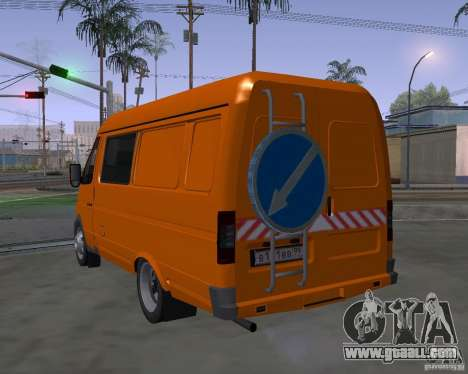 Gazelle 2705 highway patrol for GTA San Andreas left view