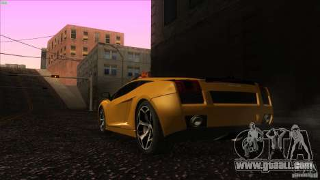 Lamborghini Gallardo SE for GTA San Andreas back left view