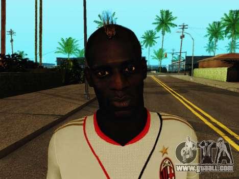 Mario Balotelli v2 for GTA San Andreas sixth screenshot