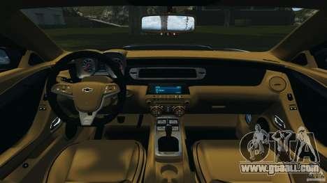 Chevrolet Camaro ZL1 2012 v1.0 Smoke Stripe for GTA 4 back view
