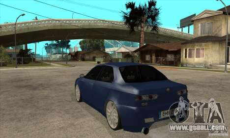 Alfa Romeo 156 Light Tune for GTA San Andreas back left view
