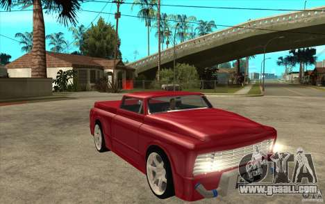 Slamvan Custom for GTA San Andreas back view