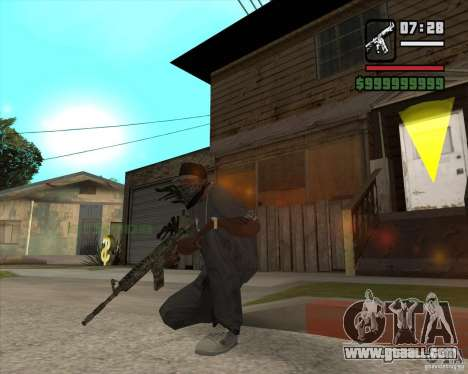 M4A1 Camo for GTA San Andreas