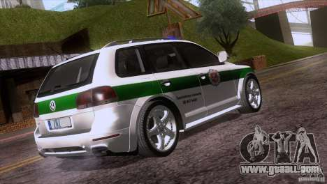 Volkswagen Touareg Policija for GTA San Andreas back view