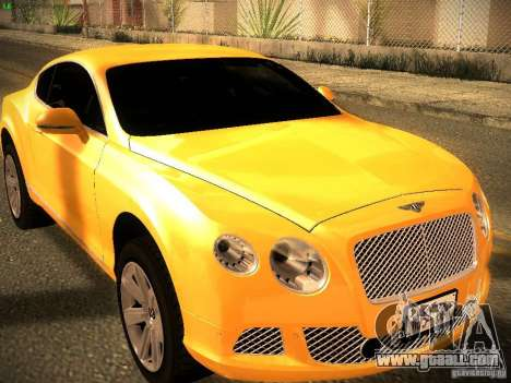 Bentley Continental GT 2011 for GTA San Andreas right view