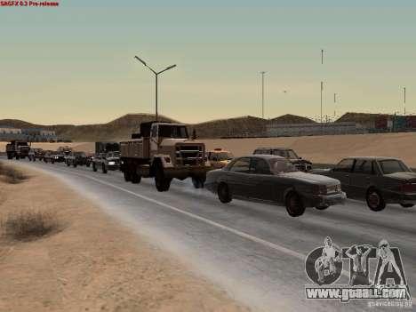Realistic traffic stream for GTA San Andreas