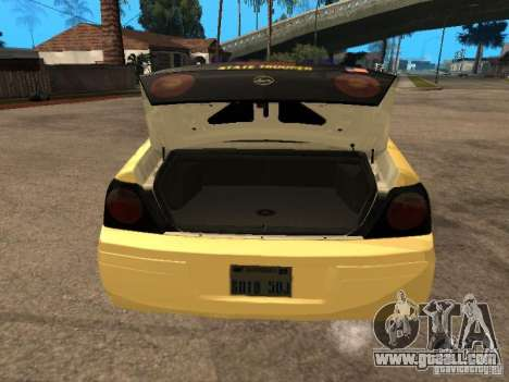 Chevrolet Impala Police 2003 for GTA San Andreas back view