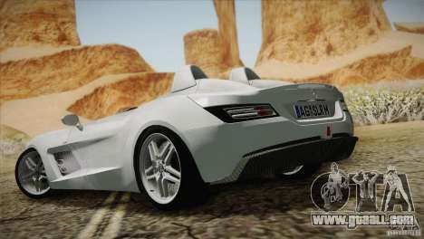 Mercedes-Benz SLR Stirling Moss 2005 for GTA San Andreas interior