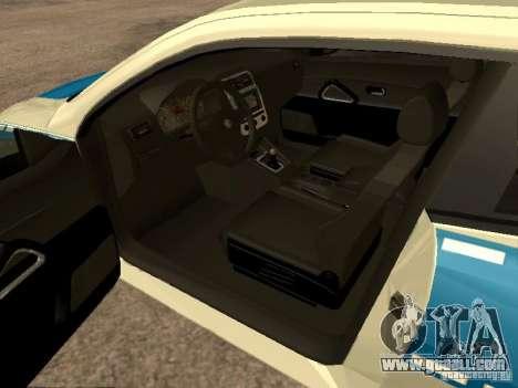Volkswagen Scirocco German Police for GTA San Andreas back left view