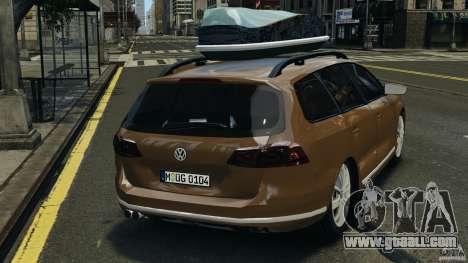 Volkswagen Passat Variant B7 for GTA 4 back left view