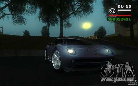 Lamborghini Miura Concept for GTA San Andreas left view
