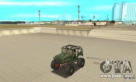 Jeep Willys Rock Crawler for GTA San Andreas right view