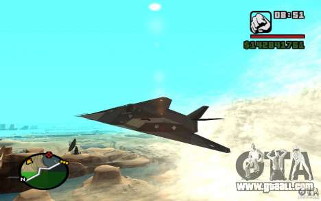 Lockheed F-117A Nighthawk for GTA San Andreas