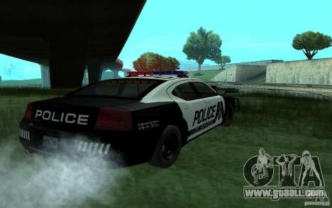 Dodge Charger Police for GTA San Andreas left view