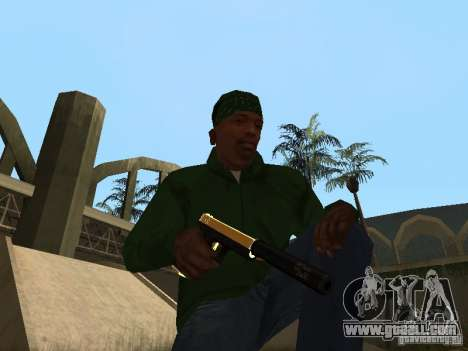 Pak Golden weapons for GTA San Andreas fifth screenshot