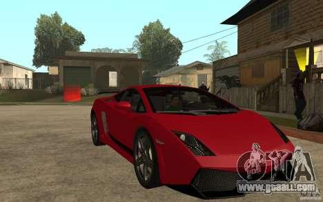 Lamborghini Gallardo LP 570 4 Superleggera for GTA San Andreas back view