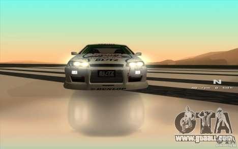 Nissan Skyline ER34 D1GP Blitz for GTA San Andreas inner view