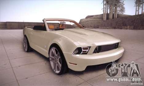 Ford Mustang 2011 Convertible for GTA San Andreas back view