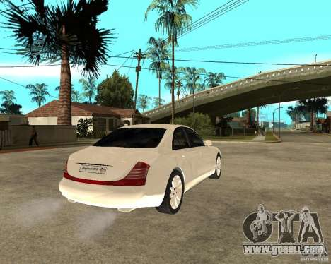 Maybach 57 S for GTA San Andreas back left view