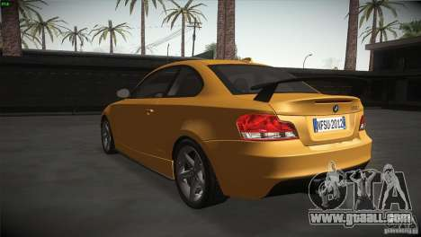 BMW 135i Coupe Road Edition for GTA San Andreas back left view