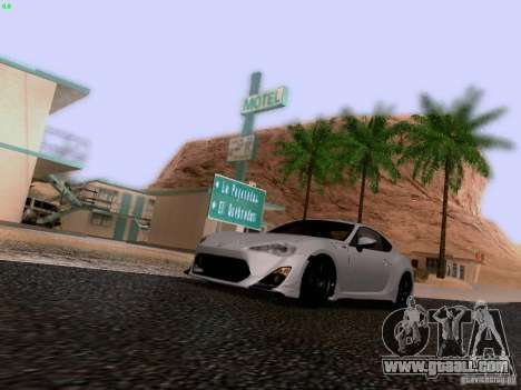 Toyota 86 TRDPerformanceLine 2012 for GTA San Andreas upper view