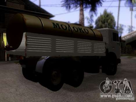 KAMAZ 53212 milk tanker for GTA San Andreas left view