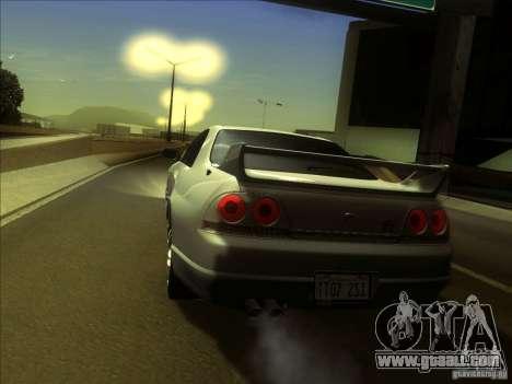 Nissan Skyline GTR BNR33 for GTA San Andreas right view