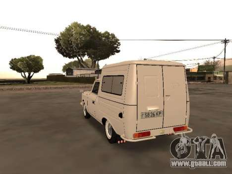 Izh 2715 for GTA San Andreas back left view