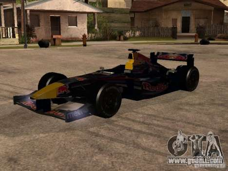F1 Red Bull Sport for GTA San Andreas