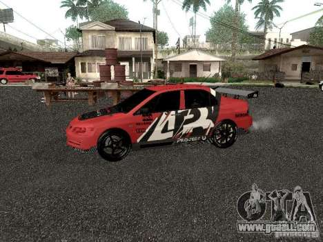Mitsubishi Lancer Evo 8 for GTA San Andreas left view
