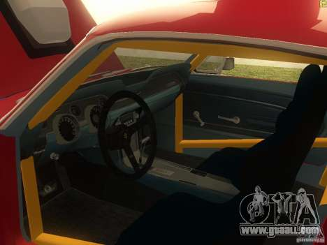Ford Mustang 1967 GT Tuned for GTA San Andreas inner view