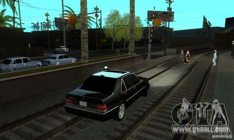 Mercedes-Benz 400 SE w140 Deputat Style for GTA San Andreas back left view