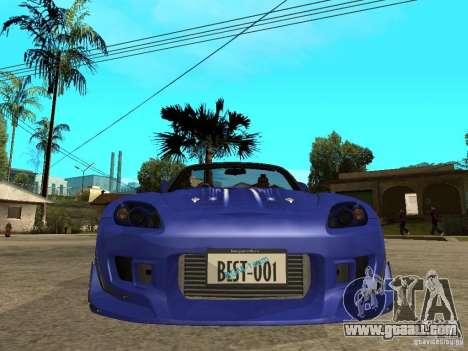 Honda S 2000 for GTA San Andreas right view