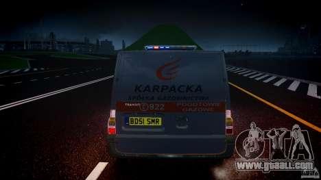 Ford Transit Usluga polski gazu [ELS] for GTA 4 bottom view