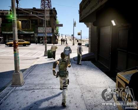 Chris from Resident Evil 5 for GTA 4 second screenshot