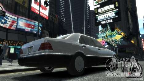 Mercedes-Benz 600SEL wheel2 tinted for GTA 4 left view