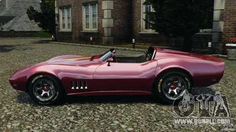Chevrolet Corvette Sting Ray 1970 Custom for GTA 4 left view