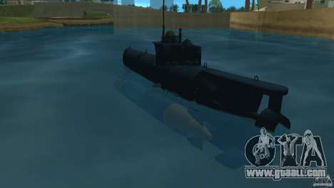 Seehund Midget Submarine skin 2 for GTA Vice City back left view