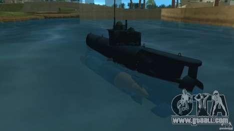 Seehund Midget Submarine skin 2 for GTA Vice City back left view