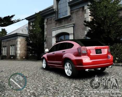 Dodge Caliber for GTA 4 bottom view