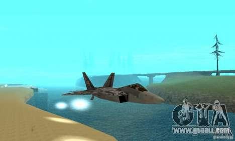 F-22 Starscream for GTA San Andreas bottom view