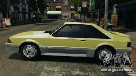 Ford Mustang GT 1993 v1.1 for GTA 4 left view