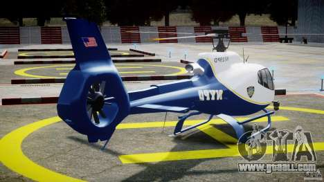 Eurocopter EC 130 NYPD for GTA 4 side view