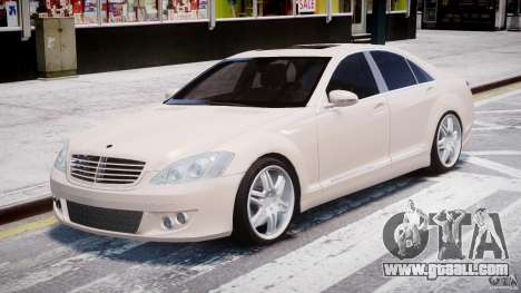 Mercedes-Benz S-Class BRABUS S Biturbo W221 2006 for GTA 4 back view