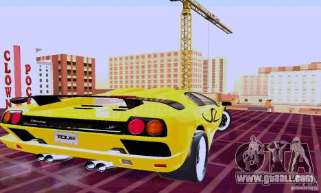 Lamborghini Diablo SV 1997 for GTA San Andreas back left view