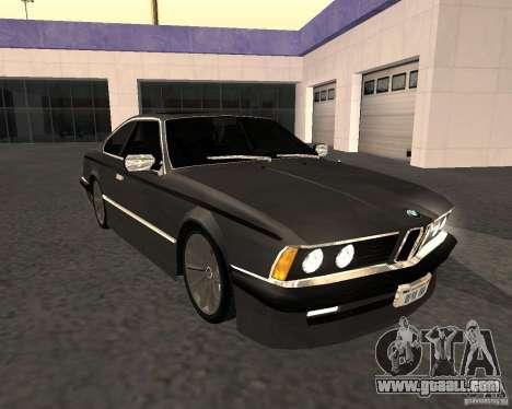 BMW M6 E24 for GTA San Andreas