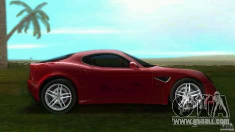 Alfa Romeo 8C for GTA Vice City left view