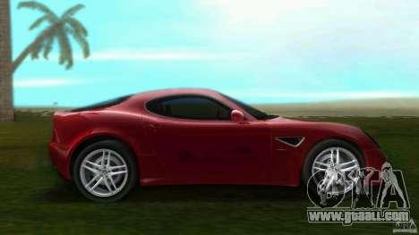 Alfa Romeo 8C for GTA Vice City left view